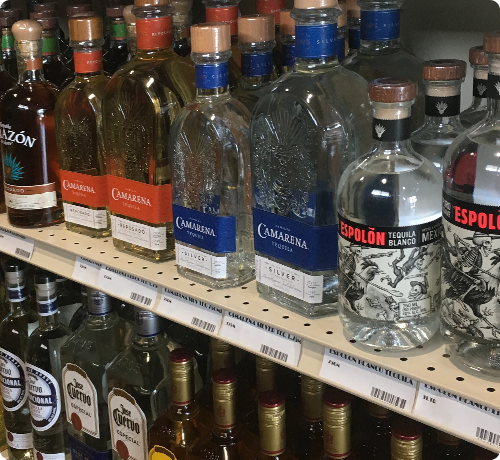 assorted liquors